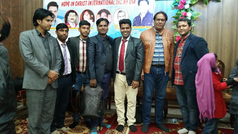 Hope in Christ monthly service in Sialkot Jan 2019