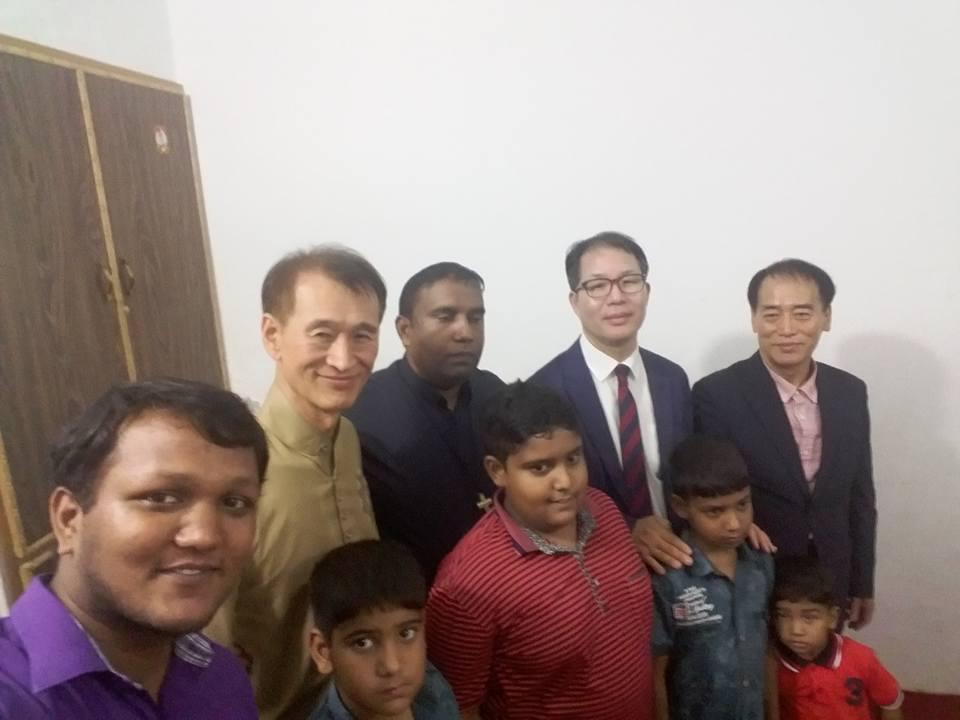 Koreans visit our church
