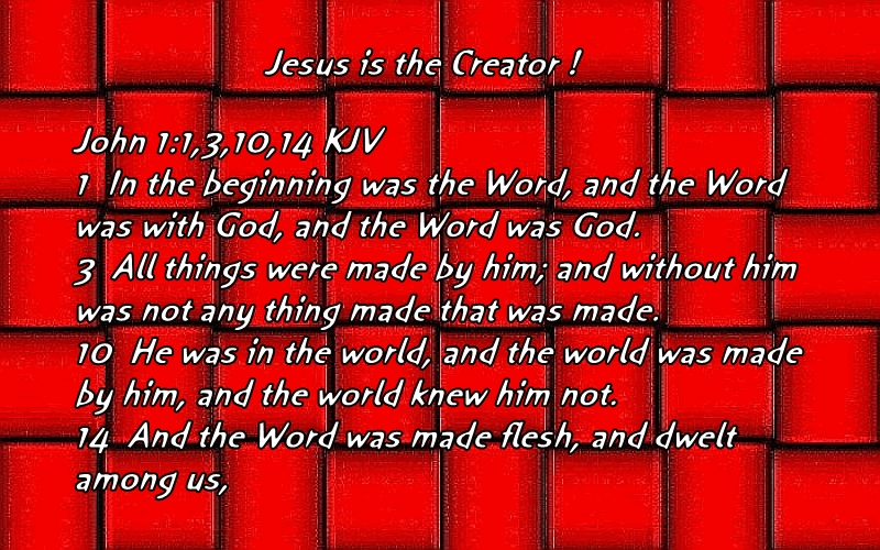JESUS IS THE CREATOR !